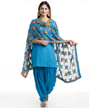 Load image into Gallery viewer, Phulkari Dupatta - Punnjab Phulkari
