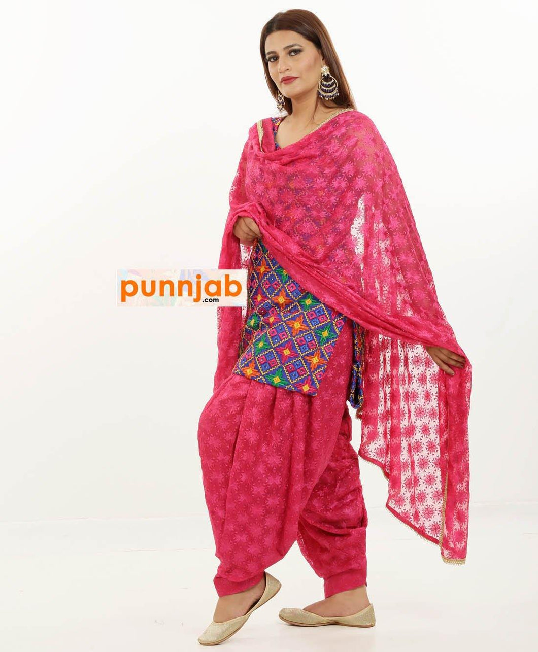 Superstar Suit - Punnjab Phulkari