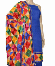 Load image into Gallery viewer, Royal Blue Designer Suit - Punnjab Phulkari