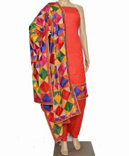 Load image into Gallery viewer, Red Designer Suit - Punnjab Phulkari