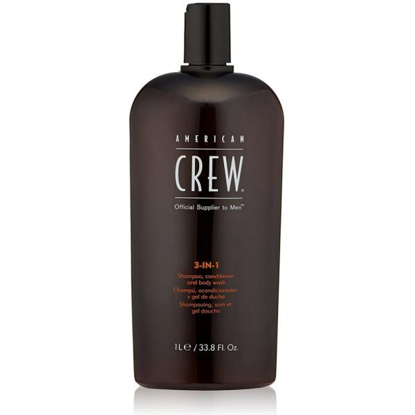 American Crew 3-in-1 Shampoo, Conditioner, Body Wash