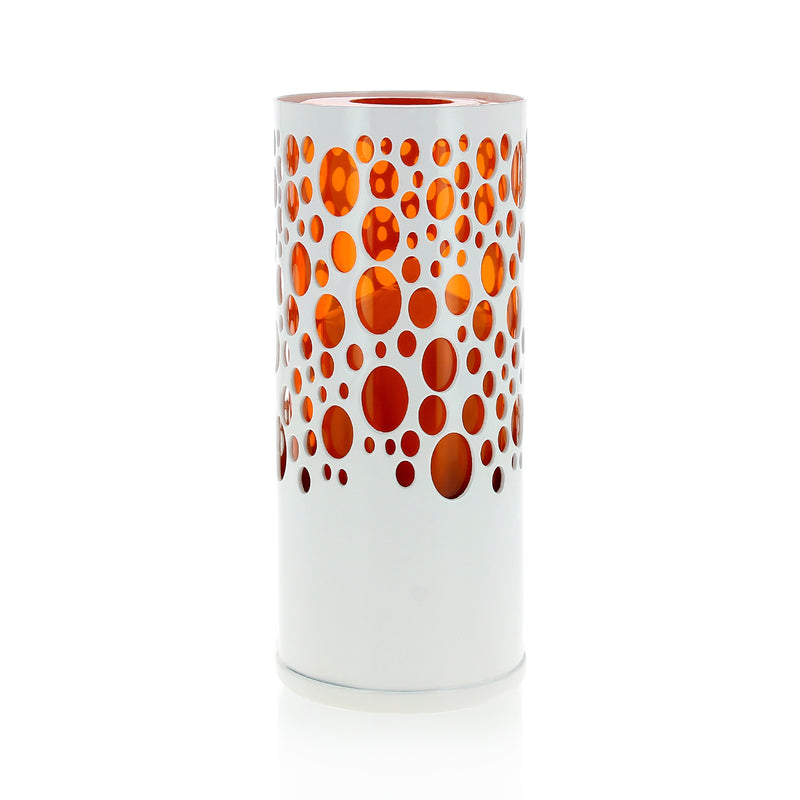 Photophore design Sub 40h blanc / orange