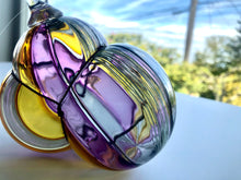 Load image into Gallery viewer, Suncatcher Ornament - Blown Glass - Twisty Cane - Bauble