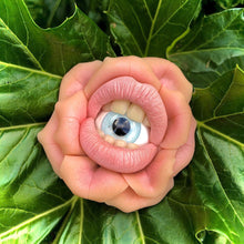 Load image into Gallery viewer, Mouthy Eyeball Flower Broach