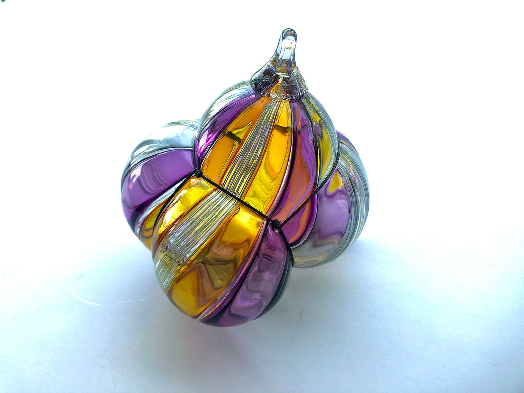 Suncatcher Ornament - Blown Glass - Twisty Cane - Bauble