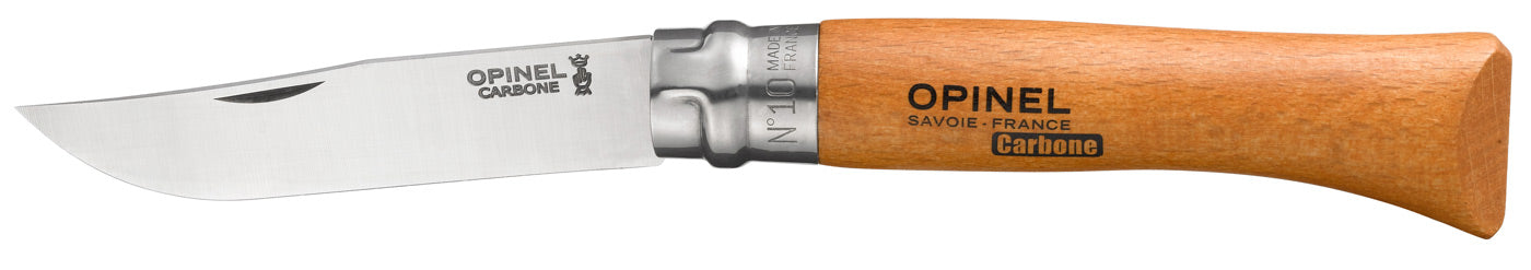 Opinel Tradition Knife, Beech handle, Carbon Steel, 10cm, #10