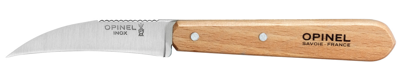 "Opinel Vegetable Knife, Stainless, Beech wood handle, 7cm/2.75"", #114"