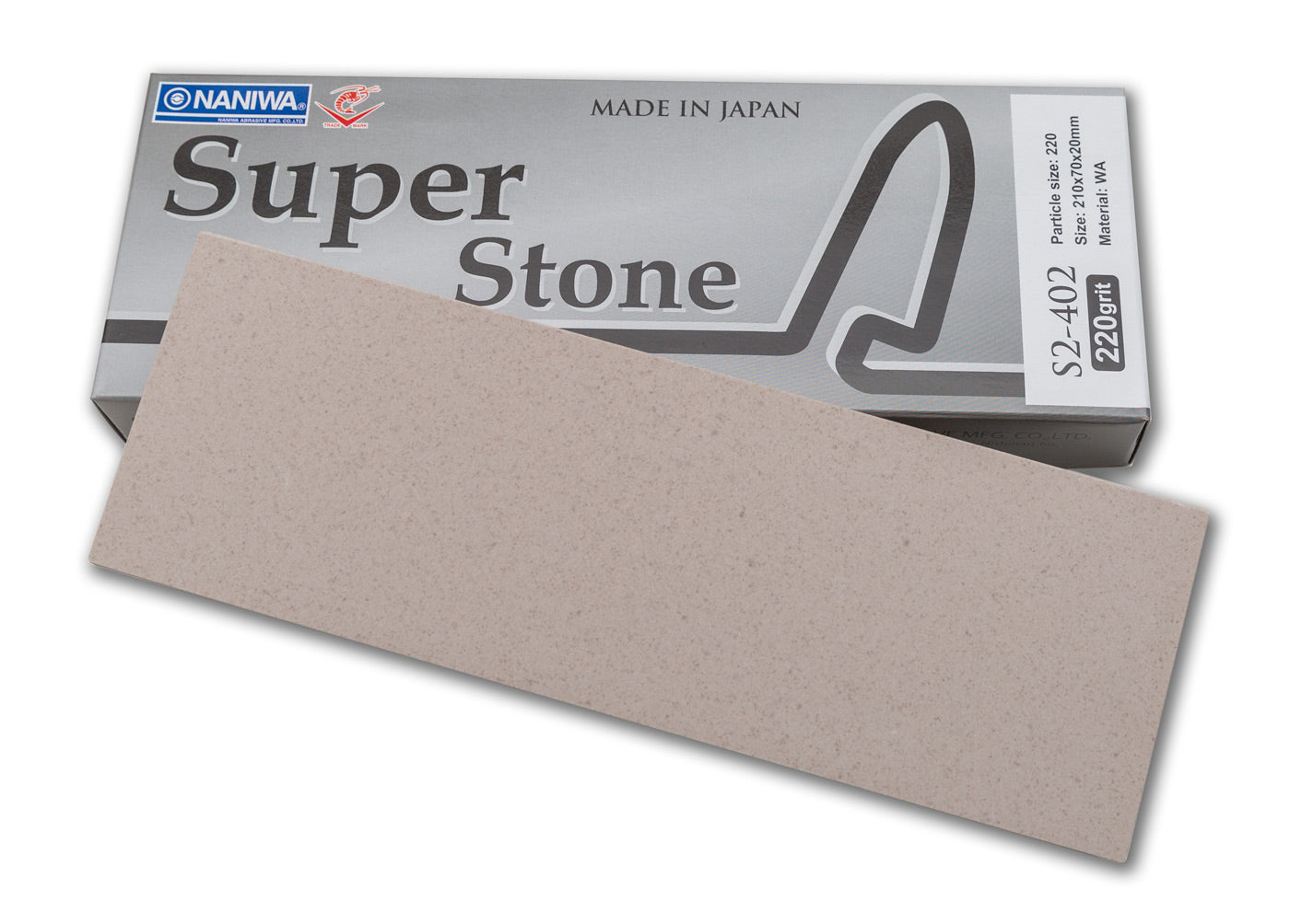 Naniwa Super-Stone Japanese Whetstone Sharpening Stone, 220 grit