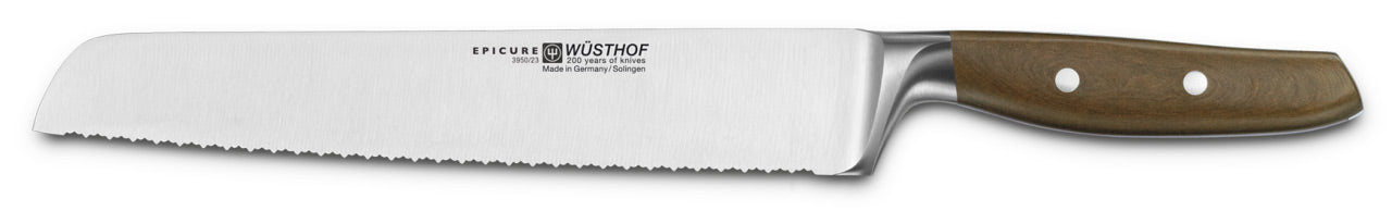 Wusthof Epicure Double Serrated Bread Knife, 9-inch (23 cm) - 3950/23