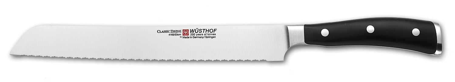 Wusthof Classic IKON Bread Knife, 9-inch (23 cm), Double-Serrated - 4163-23