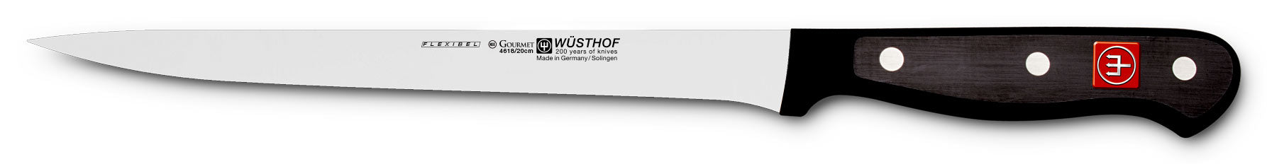 "Wusthof Gourmet Fish Fillet Knife, 8"" (20cm), Flexible - 4618-20"