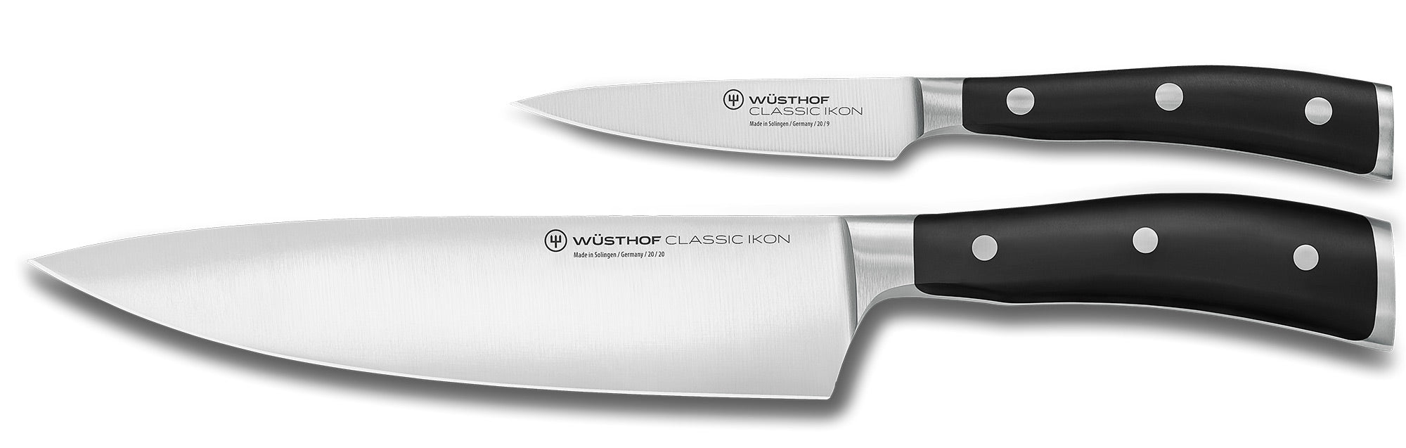 Wusthof Classic IKON 2-piece Knife Set, Chef Knife and Paring Knife - 9606