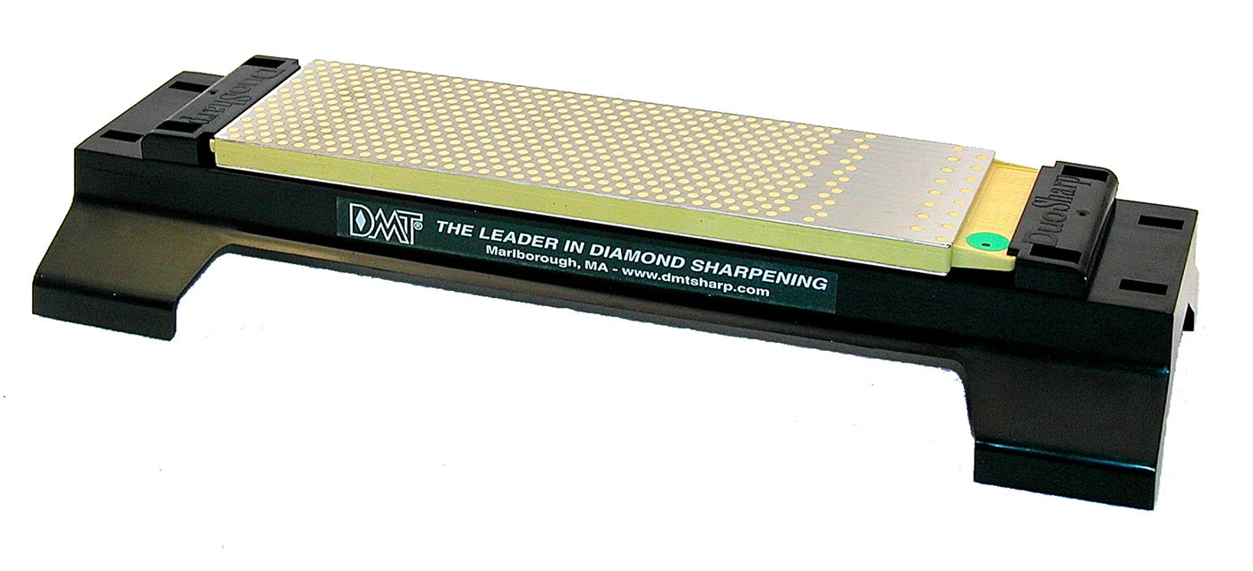DMT DuoSharp Plus 8-inch Sharpening Stone, Dual-Sided: Fine/Extra-Fine (600/1200), with Base