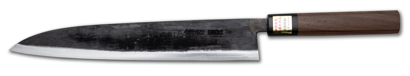 "Moritaka Supreme Sujihiki Slicer/Carving Knife, 270mm (10.6""), Aogami/Blue Super Carbon Steel, Octagonal Walnut Handle"