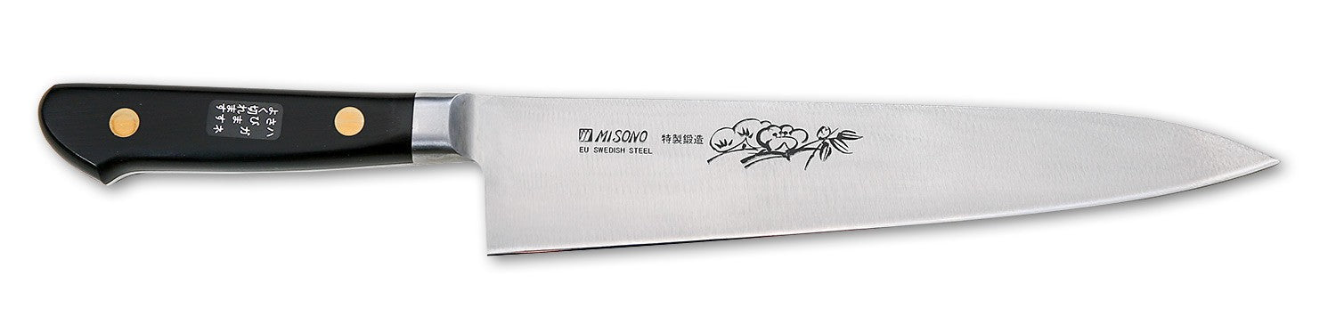 Misono Swedish Carbon Steel Chef's Knife (Gyutou), 8.3-inch (210mm) - #112