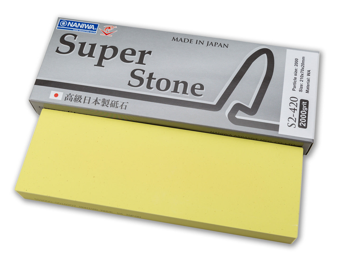 Naniwa Super-Stone Japanese Whetstone Sharpening Stone, 2000 grit