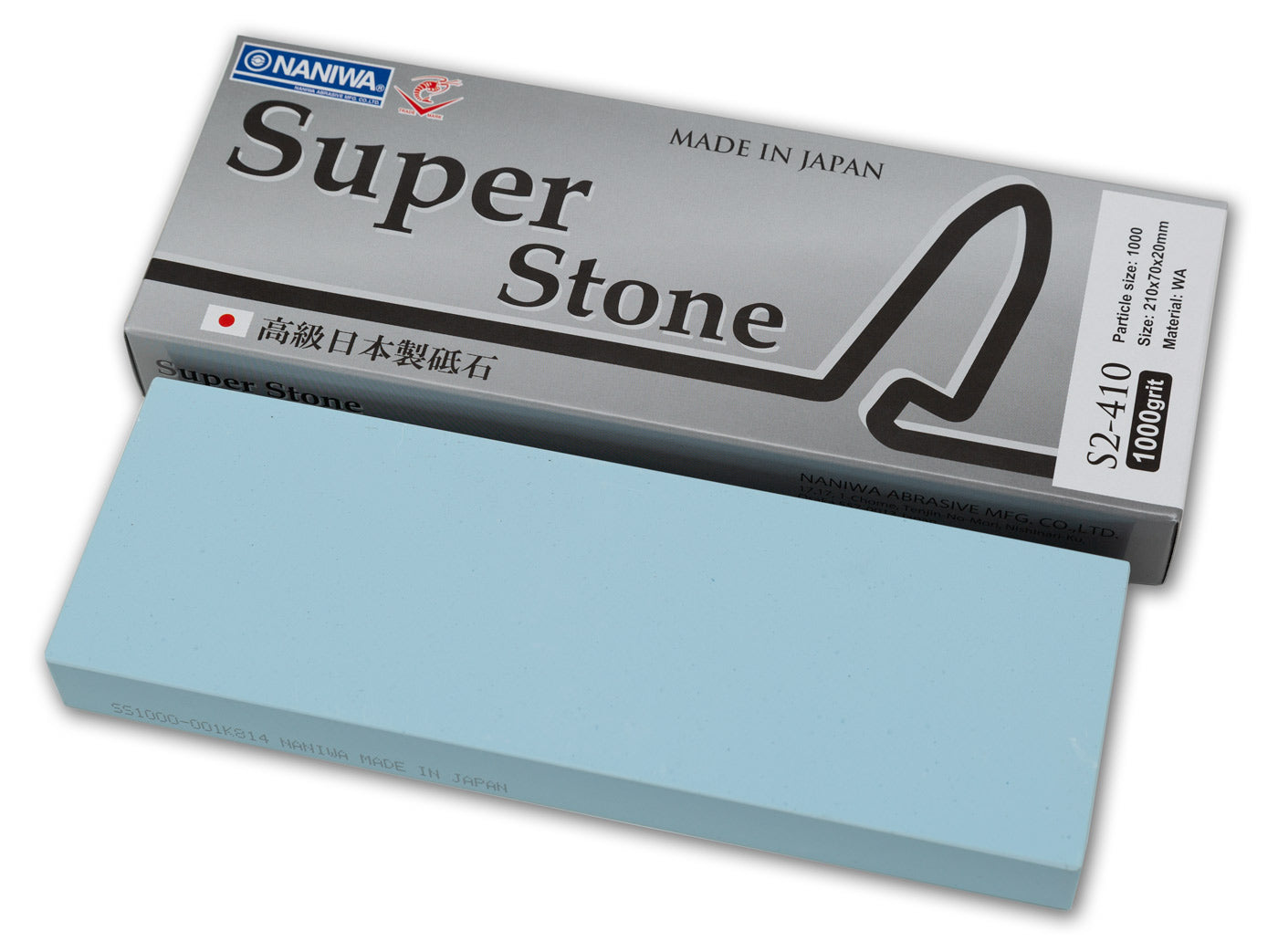 Naniwa Super-Stone Japanese Whetstone Sharpening Stone, 1000 grit