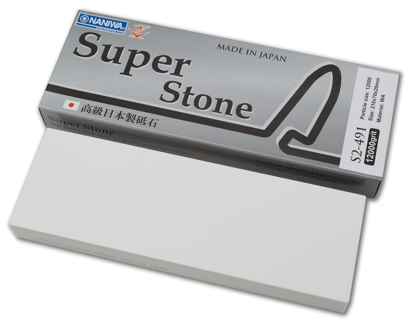 Naniwa Super-Stone Japanese Whetstone Sharpening Stone, 12,000 grit
