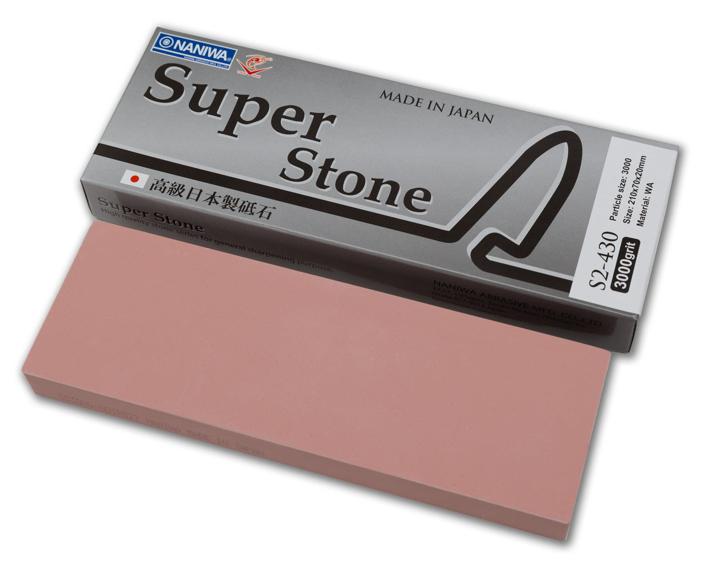 Naniwa Super-Stone Japanese Whetstone Sharpening Stone, 3000 grit