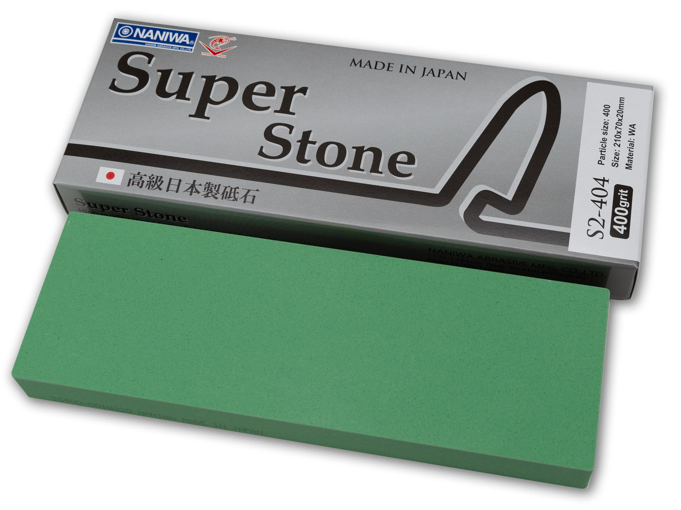 Naniwa Super-Stone Japanese Whetstone Sharpening Stone, 400 grit