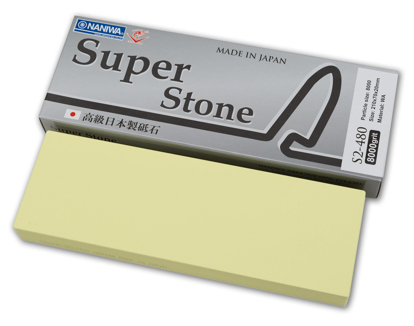 Naniwa Super-Stone Japanese Whetstone Sharpening Stone, 8000 grit