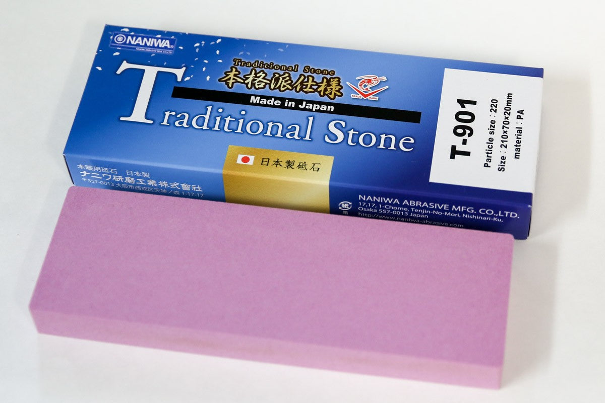 Naniwa Traditional Japanese Whetstone Sharpening Stone, 220 grit - T-901