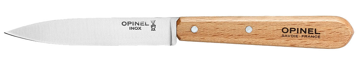 "Opinel, Utility/Paring Knife, Stainless, Beech wood handle, 10cm/4"" (#112)"
