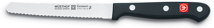 Wusthof Gourmet Utility Knife, Serrated, 4.5-inch - 4101
