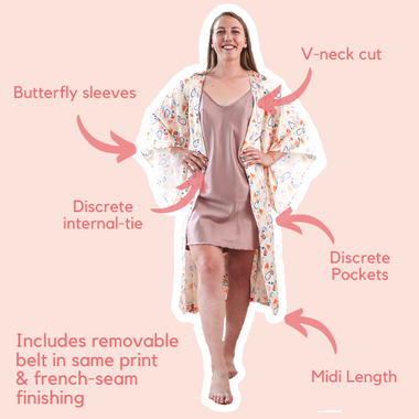 Juno Midi Robe Pastel Paisely Buttefl
