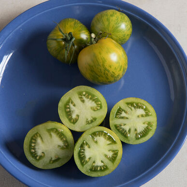 Tomatoes: Green Zebra