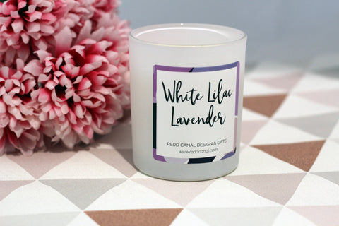 White Lilac Lavender Candle
