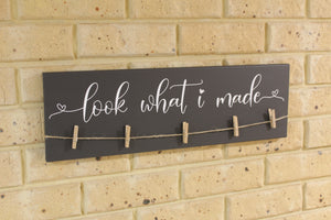 'Look What I Made' Wooden Display Board
