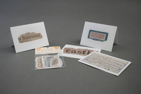 James Castle Stationery Set: Letterforms