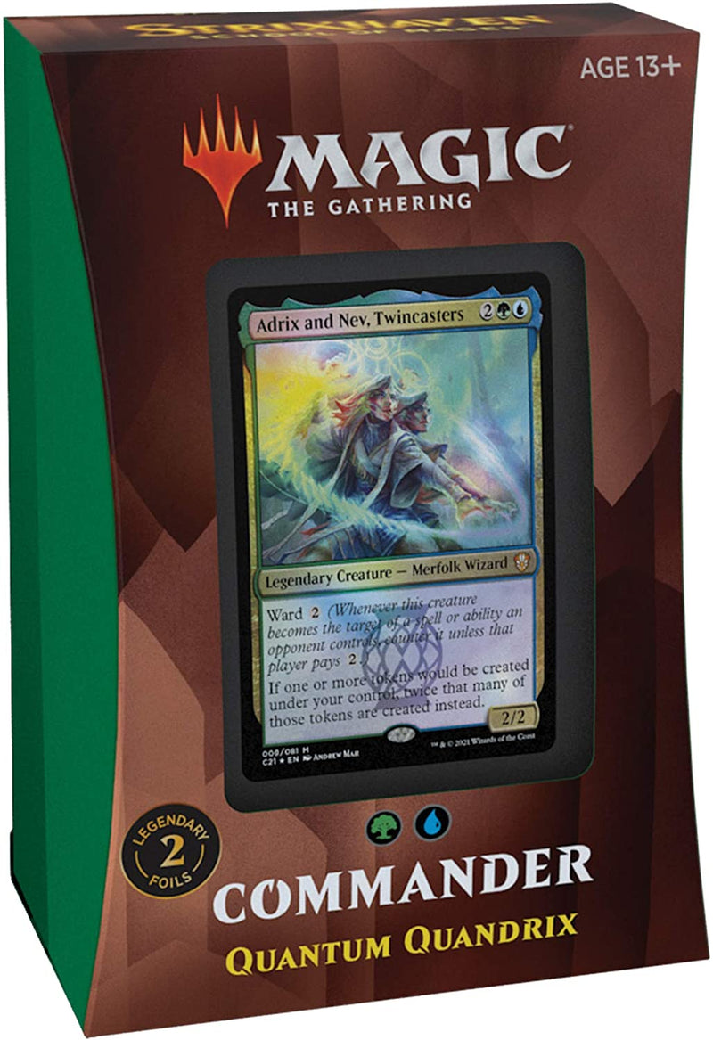 Strixhaven: School of Mages Commander Deck – Quantum Quandrix (Blue-Green)