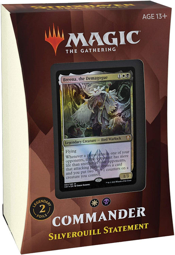 Strixhaven: School of Mages Commander Deck – Silverquill Statement (Black-White)