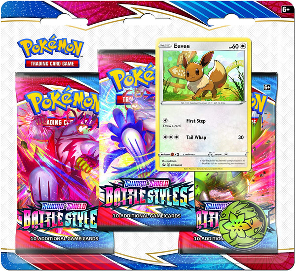 Pokémon Sword And Shield Battle Styles Three Booster Blister
