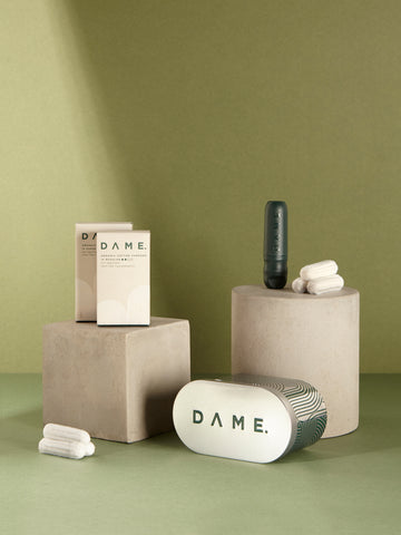 DAME TAMPONS Reusable Applicator Tin and Cotton Tampons
