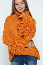 Load image into Gallery viewer, Orange Crush Turtleneck Sweater