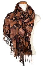 Load image into Gallery viewer, Brown Snake Print Scarf