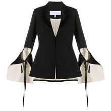 Load image into Gallery viewer, Black Linen Contrast Blazer