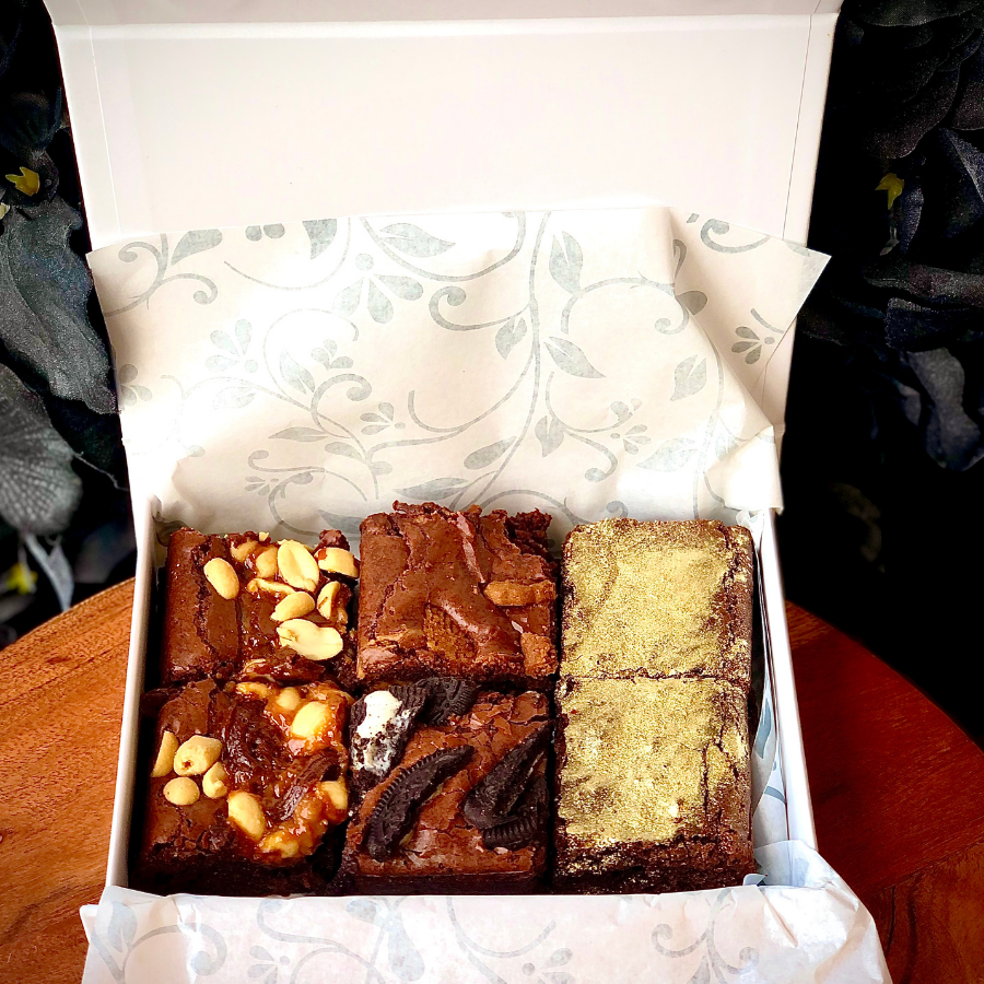 Luxury Brownie Box of 6 (Choose 3 flavours)