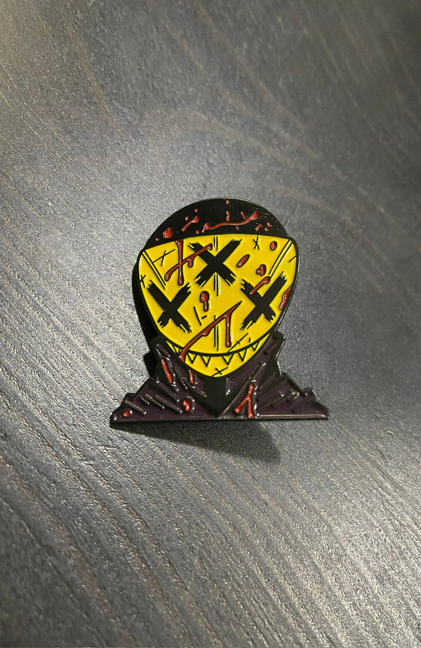 Killboy Headshot Black Metal Pin