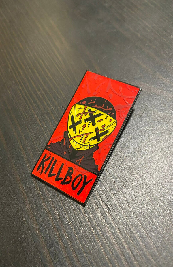 Killboy Corner Box Black Metal Pin