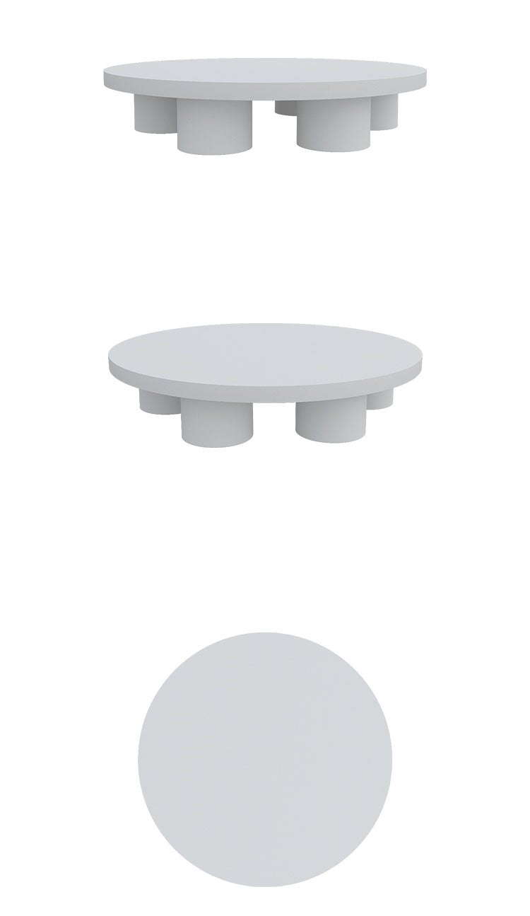 White Cement Tea Table