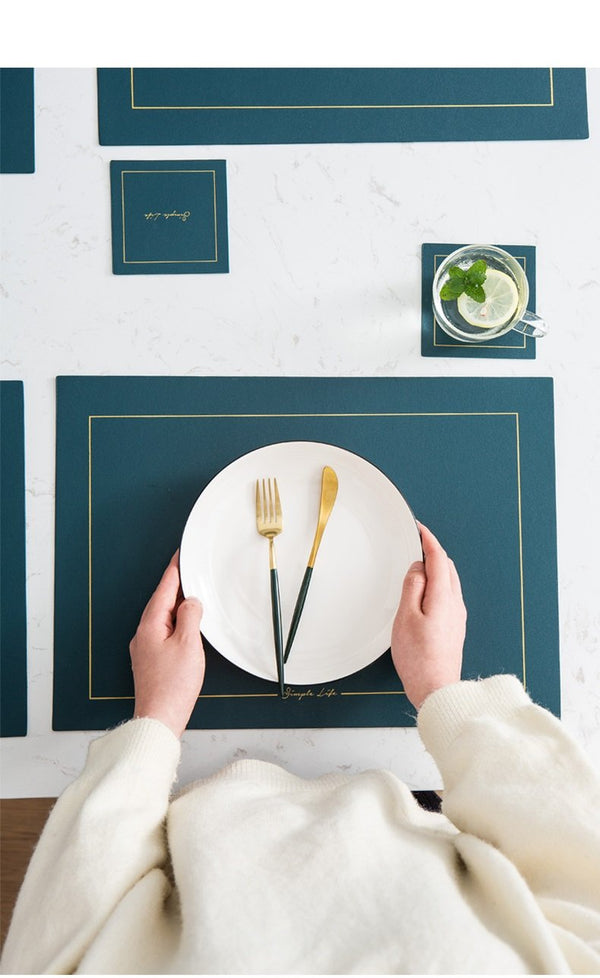 Faux Leather Coasters And Placemats