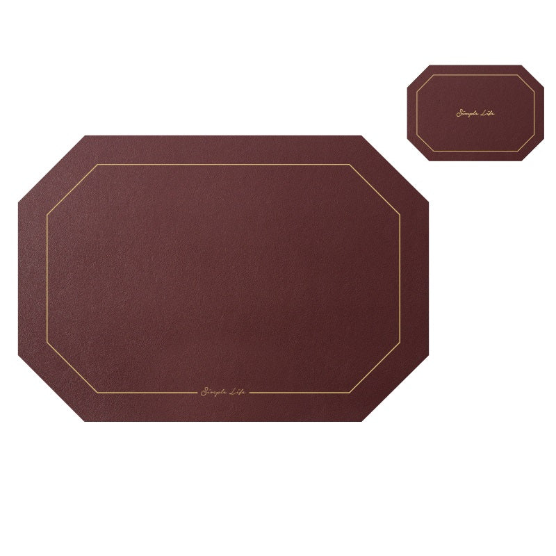 Faux Leather Coaster And Placemats For Dining Table