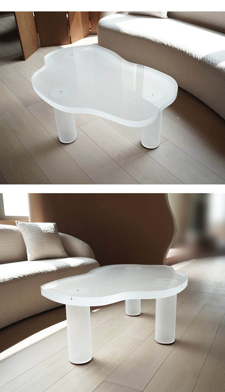 Irregular simple retro style coffee&tea table