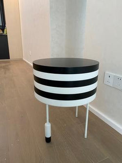Original Design Zebra Pattern Tea Table