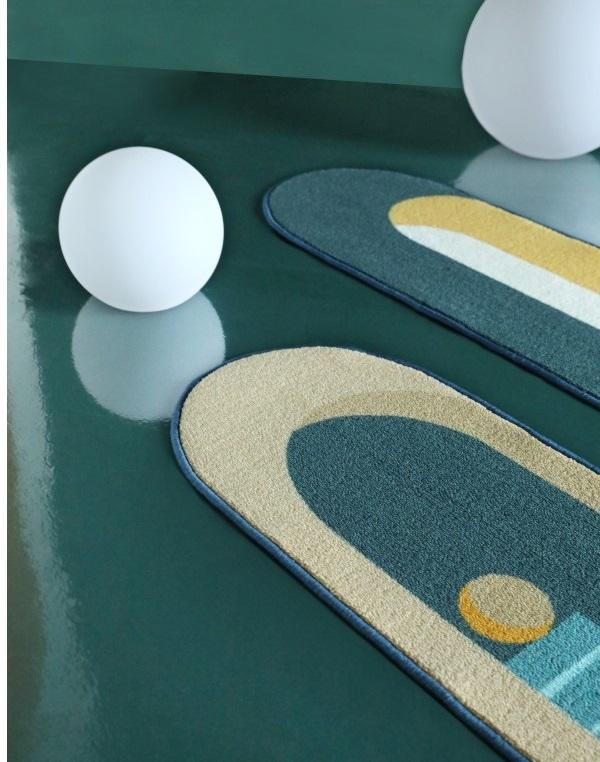 QM003 Green Moon rug