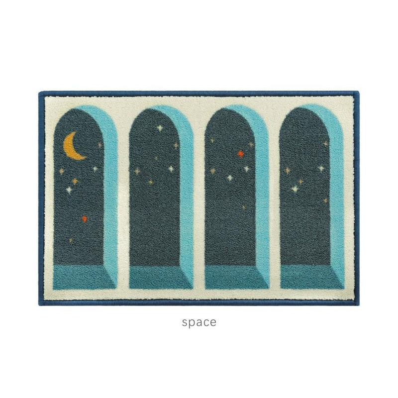 QM004 Green Moon Door rug